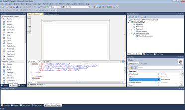 WPF Application template
