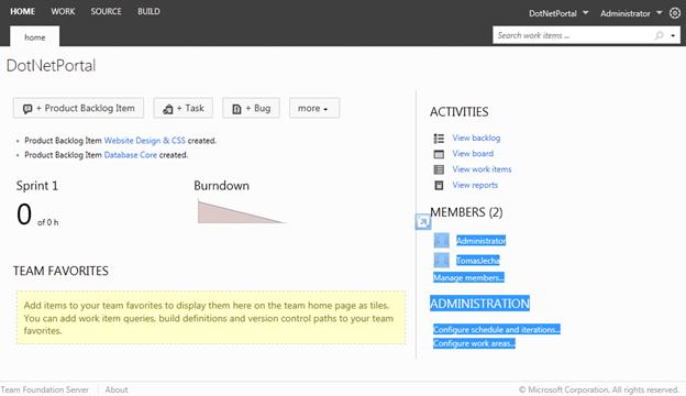 Úvodní stránka portálu