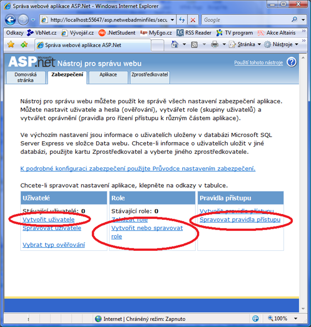 ASP.NET Configuration Tool