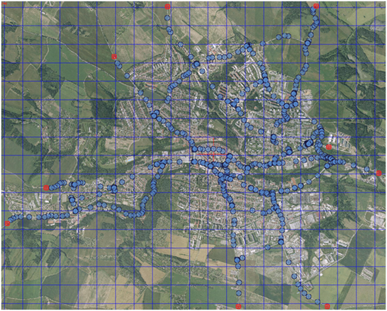 Simulační mapa města Třebíče