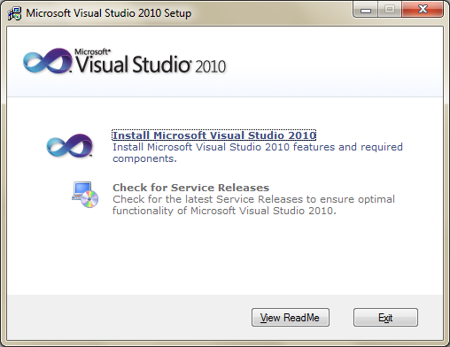 Visual Studio 2010 - instalace