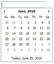 Kalendář pro výběr data