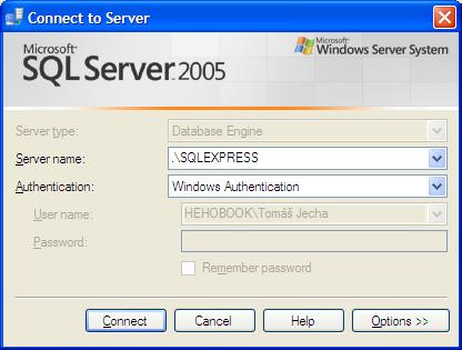 Připojení na MSSQL databázi