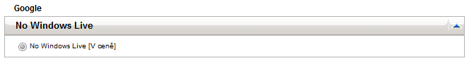 No Windows Live v kategorii Google