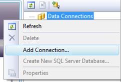 Vytvoření spojení s databází