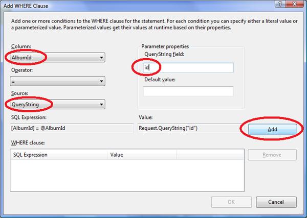 Přidání podmínky pro parametr z URL