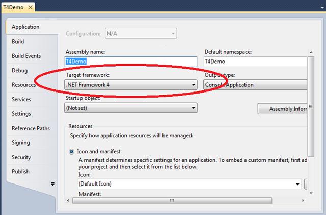 Nastavení verze .NET Frameworku