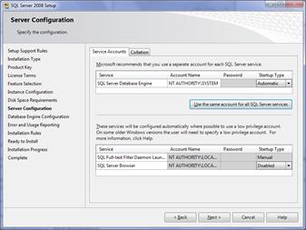 Server Configuration Services