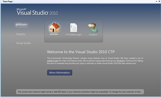Visual Studio 2010 CTP