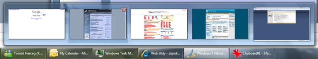 Seznam tabů v okně IE