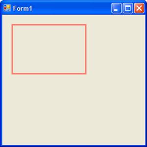 Obrázek s obdélníkem z bodu [20,20], šířkou 150 a výškou 100 pixelů.