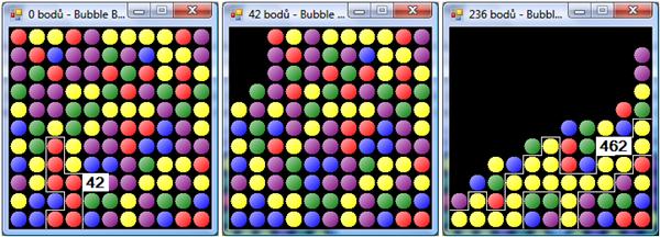 Ukázka hry Bubble Breaker